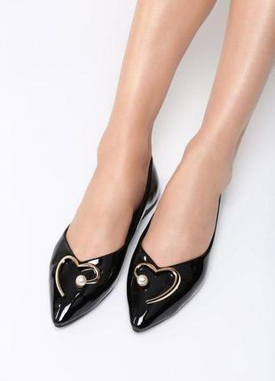 Новые черные лаковые балетки туфли размер 36,37,38,39