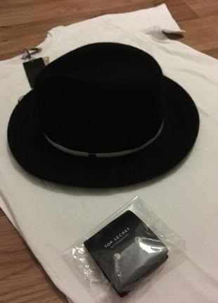 Шикарная шляпа фирмы star + серьги в подарок! не секонд!