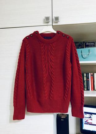 Красный свитер джемпер m&s