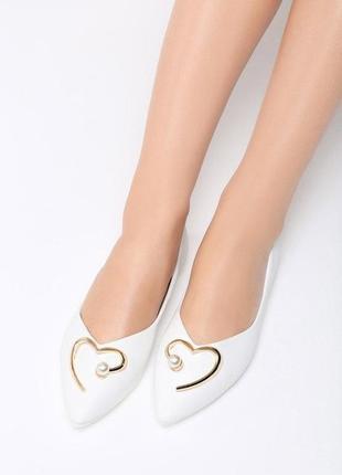 Новые белые балетки туфли размер 36,37,38,39,40