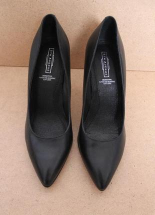 Кожаные туфли лодочки черные 5th avenue