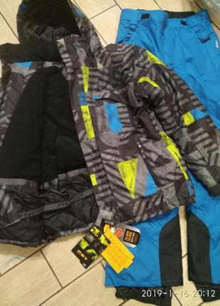 Лыжный сноуборд костюм куртка и штаны мембрана 20000мм