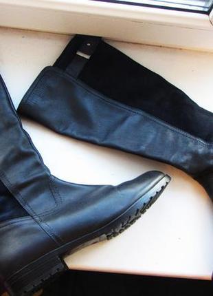 Полностью кожаные осенние сапоги размер 39. италия. состояние новых
