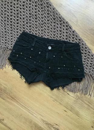Шорты джинсовые с вышивкой tally weijl