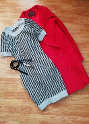 Теплое вязаное фирменное платье orsay - размер 42-44