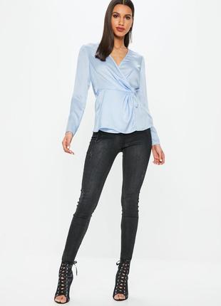 Невероятно красивая сатиновая блуза от missguided
