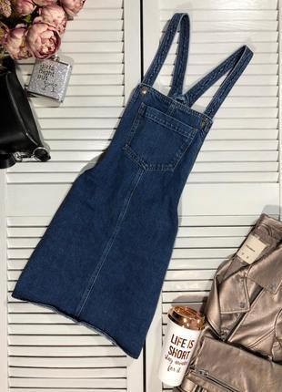 🌿 крутезный джинсовый сарафан от topshop