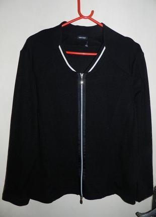 Супер!трикотажная,комбинирован.,фактурная, с сеточкой жакет-куртка16-20рр.,gerry weber