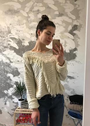 Нереально крутой объемный свитер с объемным орнаментом (кофта)
