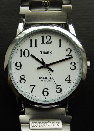 Timex мужские часы из сша с подсветкой и стальным браслетом wr30m