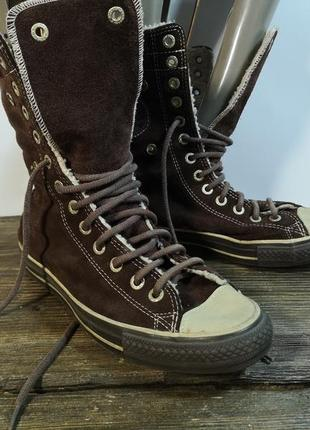 Кеды теплые converse, 39 (24.5 см), кожа, оригинал, отл сост!