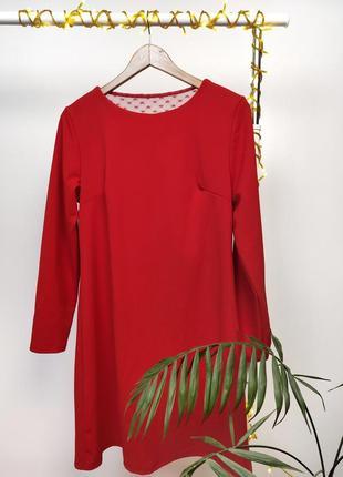 Платье с гипюровой вставкой