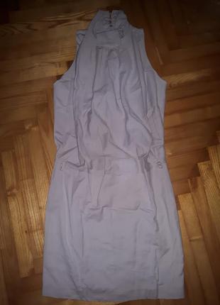 Шикарное жемчужно-серое шерстяное платье от pinko! p.-36