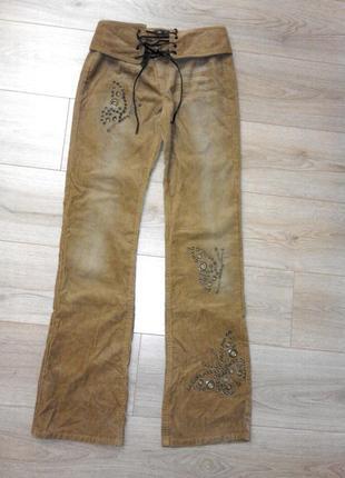 Вельветовые светло коричневые брюки phard  италия