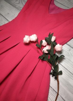 Яркое малиновое нарядное платье.3