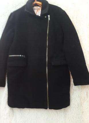 Нереально крутое теплое пальто косуха pull&bear1 фото