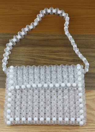 Модная плетенная сумка из бусин есть варианты