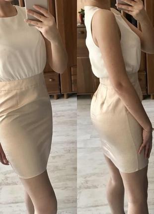Платье золотое напыление