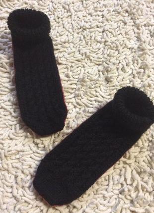 Шерстяные носочки- тапочки(чешки) 21 см стелька германия