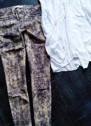 Актуальные штанишки с модным змеиным принтом