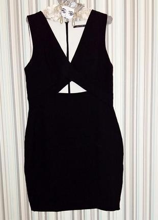 Стильное- платье футляр с  вырезом portmans 48-50 размер