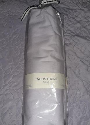 Качественная простынь на резинке, сиреневая, 100×200,100% коттон