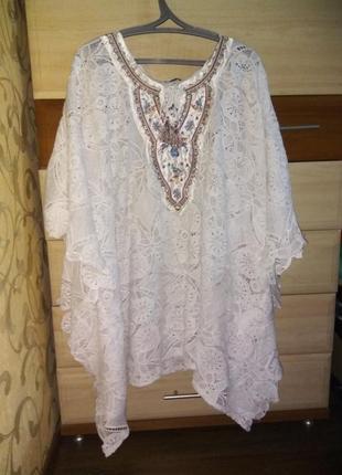 Блузка вышиванка летучая мышь