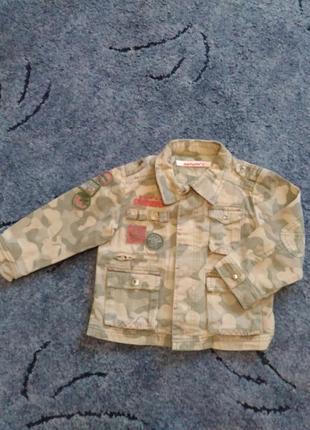 Джинсовый пиджак комуфляжный