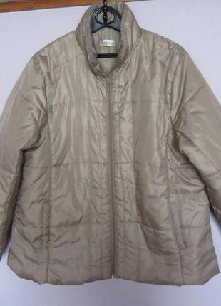 Светло-бежевая куртка на синтепоне george,24р(пог65см)