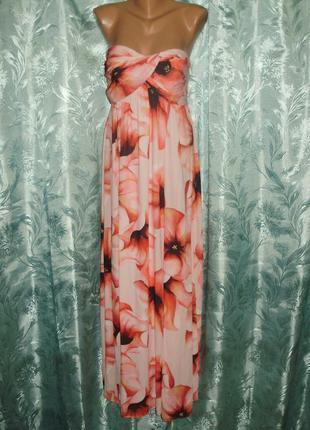 Новое с биркой шикарное платье макси шифон на покладе размера 10/m