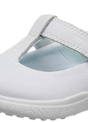 Туфли кроссовки skechers скечерс разм 33 стелька 22см. натуральная кожа. оригинал