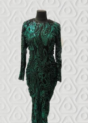 Шикарное вечернее платье с блестками нарядное новый год блестящее