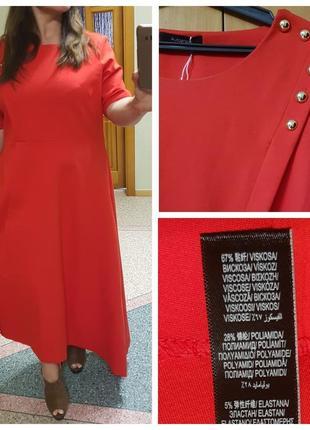 Красное платье большого размера autograph