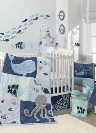 Детский постельный комплект в кроватку lambs & ivy (сша)