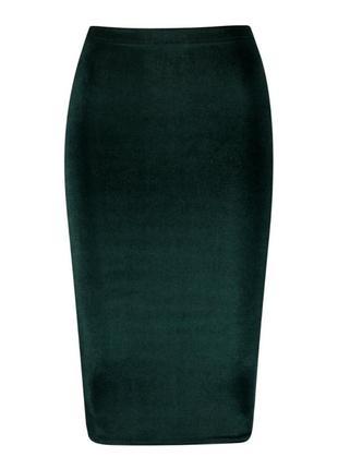 Шикарная юбка карандаш велюровая