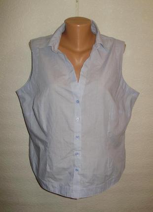 Стильная рубашка-блуза в полоску/батал/20/54-56 размера
