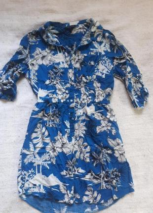 Платье рубашка top shop s-m