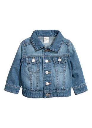Новая джинсовая куртка h&m 2-3(92-98) пиджак курточка джинсовка