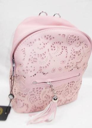 Есть цвета. розовый нежный рюкзак с перфорацией кружева зара 2019
