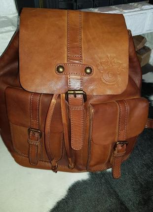 Шикарный аутентичный кожаный рюкзак, швеция