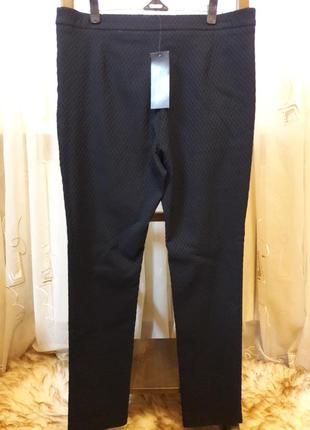 Брюки дудочки по фигуре черно изумрудного цвета с замочками6 фото
