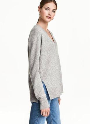 Мягкий кашемировый джемпер пуловер блуза оверсайз м-л