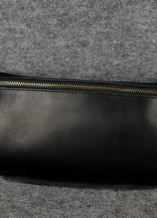 Поясная сумочка из итальянской кожи (черный)