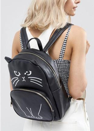 Оригинальный рюкзак котик кот yoki (asos)