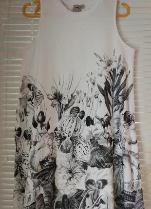 Платье трапеция с цветочным принтом asos