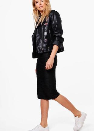 Новая текстурная юбка миди vera&lusy размер м
