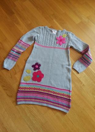Теплое яркое платье с орнаментом maggie zoe на 6-7 лет