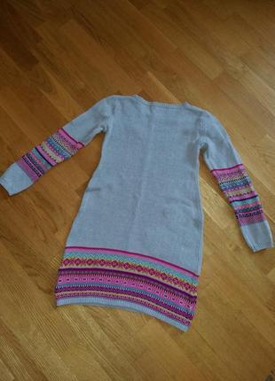 Теплое яркое платье с орнаментом maggie zoe на 6-7 лет3