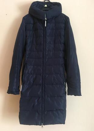 Синій пуховик зимова куртка