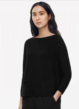 Мягкий-мягкий шестяной джемпер блуза с кармашками свободный крой